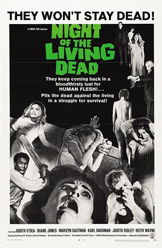 """Romero consolida gli zombi al cinema: """"La notte dei morti viventi"""""""