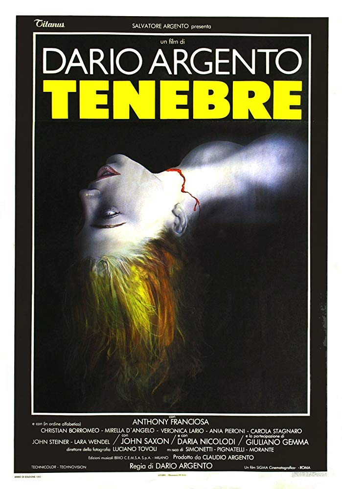 """""""Tenebre"""" di Dario Argento è il thriller definitivo"""