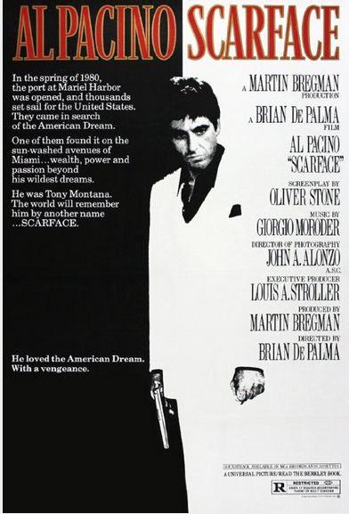 """Scarface"" di B. De Palma: the world is yours"