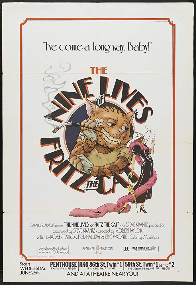 """""""Le nove vite di Fritz il gatto"""" (R. Taylor, 1974)"""