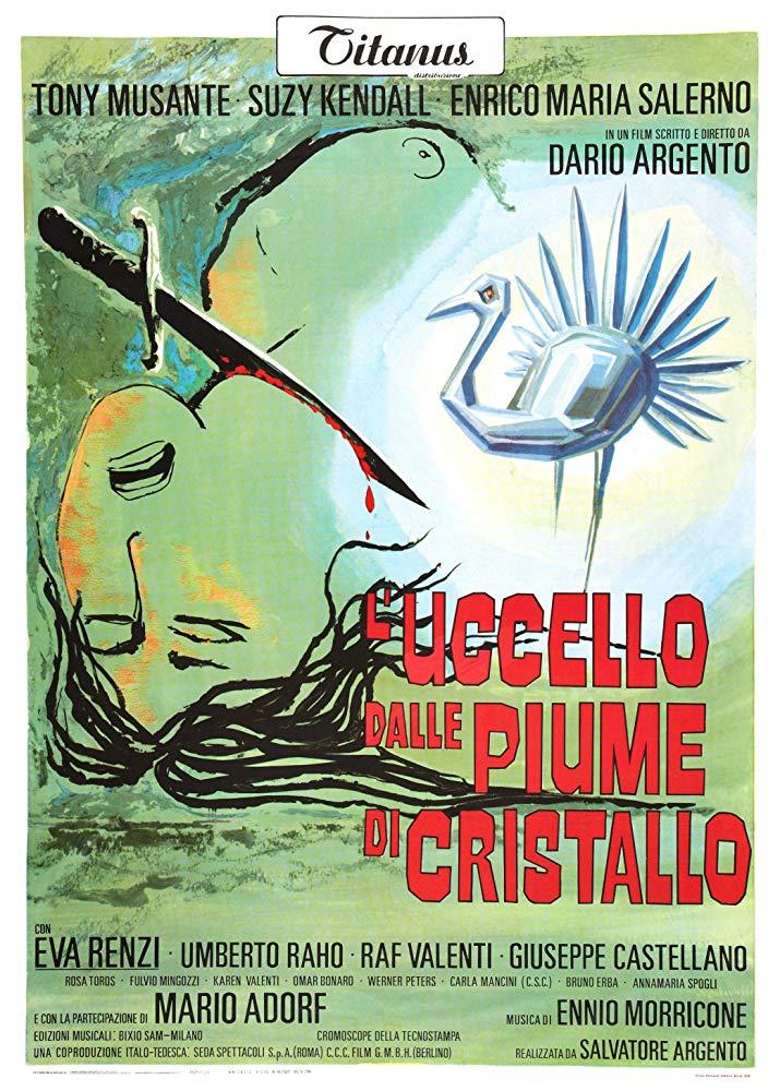 """Nel 1970 """"L'uccello dalle piume di cristallo"""" segna l'esordio di Dario Argento"""
