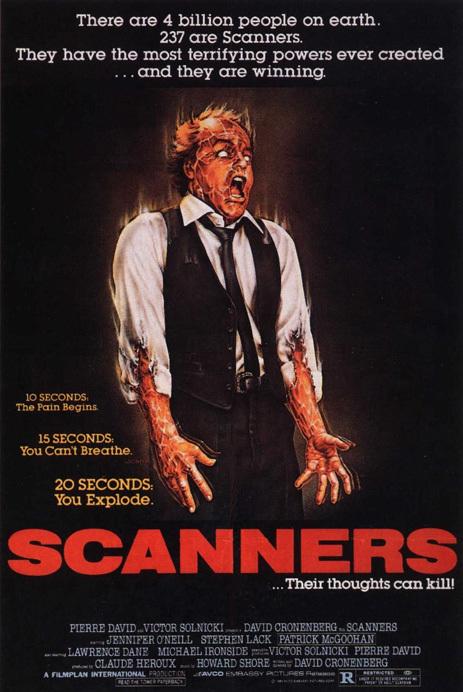 """""""Scanners"""" I pensieri di David Cronenberg possono uccidere"""